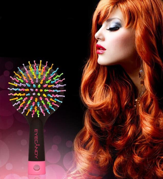 Black Comb Magic Hair Brush Hair Salon Comb Rainbow Hairbrush Fashion Comb Anti-tangle Brush Massage [XY-N1008](China (Mainland))