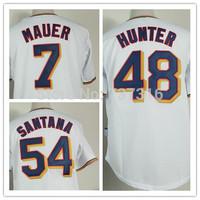 Cheap Sale,New Minnesota Twins #54 ervin Santana 7 Joe Mauer 48 Torii Hunter Home Jersey Men's Baseball Jerseys Accept Mix Order
