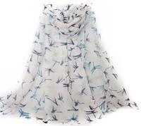 EP20 Brand New 2015 Woman Scarf Long Arab Hijab Dragonfly Print Silk Voile Viscose Scarves 5Colors Fashion Shawl Wrap100cm*180cm