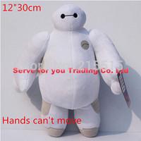 Big Hero 6 Baymax plush Stuffed Toys Soft Crystal Cotton Material High Quality Baymax Baby Toys 12inch 30cm.Free Shipping
