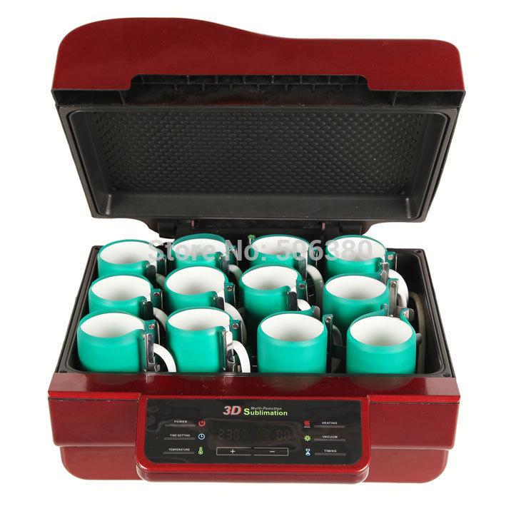 FREE SHIPPING 3D Vacuum Sublimation Heat Press Mug Transfer Machine
