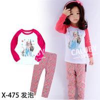 new 2015 princess movie costume clothing set for girls toddler baby kids children pajama set retail kids pyjamas clothes suit