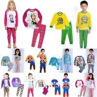 2014 hot sale new cartoon children's clothing sets,unisex boys girls pajama sets,toddler baby kids pijama sleepwear suit