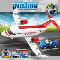2015 New Top Fashion Wooden Toys Sluban M38-b0365 Plane Model Building Block Set 3d Construction Diy Bricks Toys For Children