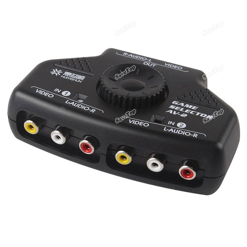 Splitter 3 Way Vga Chicsky 2 Way Audio Video av Rca Switch Selector Box Splitter w 3 Rca Cable