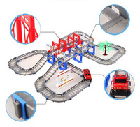 2014 hot sale Scale Models Brinquedos 2 Layer Rail Car Toy Double-deck Track Children Toys with Electric for Kids As Giftshot