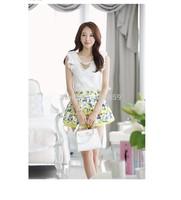2015 Summer Fashion Women Clothing Lace Chiffon Blouses Slim Sleeveless OL Shirts Tops For Women TT062