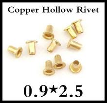 1000 pçs/lote de alta qualidade M0.9 * 2.5 mm 0.9 mm nova marca de cobre oco rebite dupla face placa de circuito PCB unhas vias(China (Mainland))