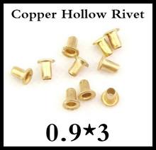 1000 pçs/lote de alta qualidade M0.9 * 3 mm 0.9 mm nova marca de cobre oco rebite dupla face placa de circuito PCB unhas vias(China (Mainland))