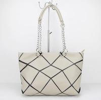 Free shipping Promotion 2015 New Arrival pu Leather pactwork Women Handbag Shoulder Bag Messenger Bag H090 beige