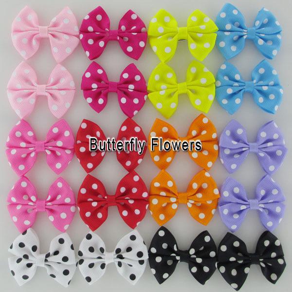 Polka Dot Grosgrain Ribbon Hair Bows,Baby Girls' Boutique HairBows Hair Accessories Hair Bows For Toddlers(China (Mainland))