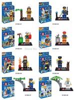 SY263 8pcs Super Heroes Avengers City Minifigures City Action Figures building block Bricks minifigures baby Toys for children