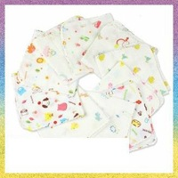 [baby Handkerchief]Free Shipping 10pcs/lot B1174 Four layer thickening gauze high density cotton saliva towel 34*34