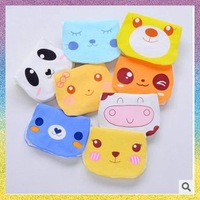 [baby Absorb sweat towels]Free Shipping 4pcs/lot B1173 Cartoon expression Four floors every sweat towels Gauze absorbent towels
