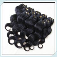 Brazilian Body Wave Human Hair Weaving Pure Color Full Head 6pcs 50g/pc Natural Black Mix Length Cheap Price Brazilian Hair