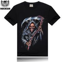 2015 Men O-neck 3D T- Shirt Tops Tees  Men's Casual Shirts Male Print Pirates horror skulls Print Summer Camisetas Masculinas