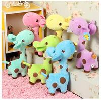 2015 new 18cm lovely baby boys girls toy kids Giraffe Deer Soft Plush Toy children Animal Dolls Free Shipping