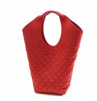 Felt bag scales bag handbag hollow out women's bag manufacturers selling a lot of customization