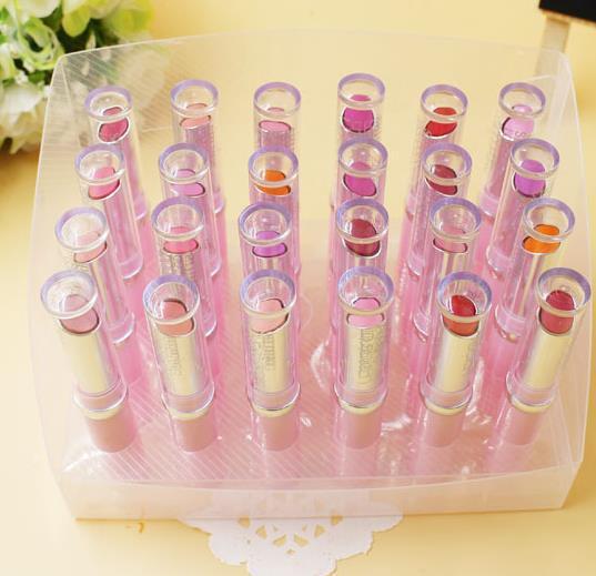 24pcs Free shipping 2015 New brand makeup Lipgloss 12 colors set make up lip gloss magic lipstick brand(China (Mainland))