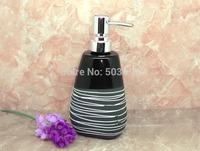 Ceramic soap dispenser, lines of relief, pressing, packing, hand wash bottle, perfume bottle, 530ml