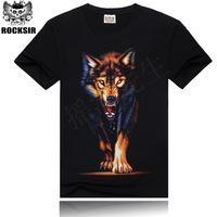2015 New O-neck Short Sleeve 3D T Shirt Men Tops Tees  Men's Casual Fashion TShirt Male Wolf Printed Summer Camisetas Masculinas