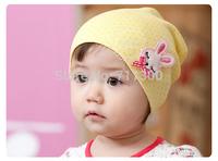 2015 new cartoon rabbit baby hats kids caps infant girls Skullies & Beanies children accessories Free Shipping