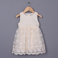 Free shipping 2015 new Sleeveless Princess summer lace ball gowns Dress Children's lace summer wedding Dress Child clothing