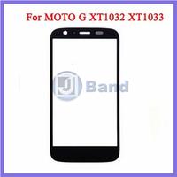 10pcs/lot Black White Front Outer Touch Screen Glass Lens Replacement Panel For Motorola Moto G XT1032 XT1033 XT1036