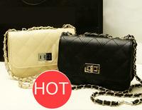 Women's plaid chain clutch small vintage Shoulder Messenger Bags cross body Leather handbags woman bags fashion 2015 designers