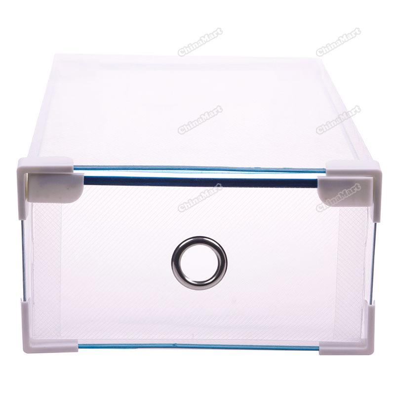 newbie Hot Colorful Storage Drawer Container Organizer Case Foldable Plastic Shoe Box(China (Mainland))