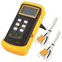 6802 II Dual Channel Digital Thermometer with  2 K-Type Thermocouple Sensor Probe for BGA  rework HVAC 1300 C 2372 F