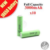 FREE SHIPPING! Original Samsung 18650 Battery 3000mAh 3.7V ICR18650-30B Li-ion Rechargeable Battery 10pcs/lot