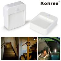 Brand New Kohree Battery-Powered Motion-Sensing LED Stick-Anywhere Nightlight Wireless, Energy-Efficient LED