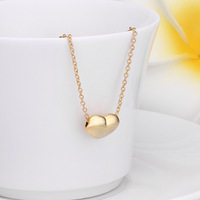 2015 NEW arrive high quality  fashion 18K silve/gold Gp alloy chain heart pendant necklace Valentine Gift