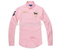 2015 new brand shirt 100% cotton fashion casual shirt  long-sleeved men dress shirt Free Shipping #7048