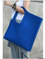 magnetic buckle belt shopping bag felt bag eco-friendly bag shopping bag multicolor
