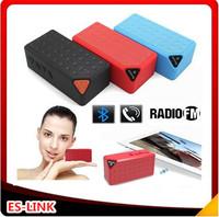 Free shipping Mini Portable  X3 Bluetooth speaker with Mic wireless bluetooth speaker for iPhone Samsung mini speaker FM radio