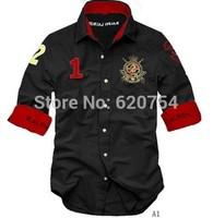 2015 hot selling camisas brand shirt new fashion design men's casual shirts high quality men dress shirts #7031
