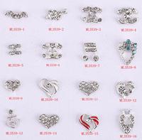 2015Fashion Crystal nail charms 50pcs/lot 3D Bow Alloy 888A Preciosa Rhinestone Nail Jewelry for nail gel(ML3521-3549) #