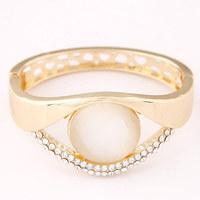 Fashion accessories brief cutout - eye elegant alloy bracelet gift hand ring jewelry female