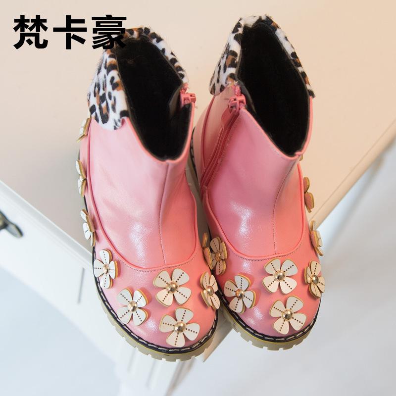 Евро-стиль девочка обувь девочка свободного покроя полиуретан кожа сапоги обувь