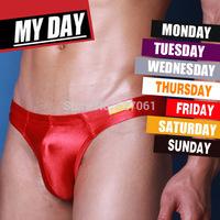 5pcs/lot HOT Brand Men's Week Day Bikini Briefs Underwear Size  M L XL *5Colors-Fast Shipping