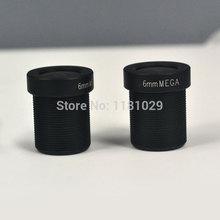 5pcs/lot telecamera hd obiettivo 6mm m12 mount 1,3 mp di sicurezza cctv obiettivo fisso per telecamera ip o supporto macchina fotografica digitale sdi& CVI fotocamera(China (Mainland))