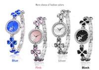 Top Sale! Stainless Steel Strap Watches Women Wristwatches Black/Blue/Pink/Silver Ladies Watch Quartz Watch Free Shipping SV10