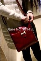 Calf Leather Women Shoulder Bag Vintage Fashion Women Cross Body Messenger Bag PU Satchels Purse