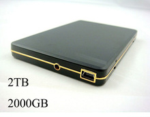 Wholesale 2000 gb mobile hard disk new high-speed mobile hard disk 2TB HDD USB2.0 external hard drive free worldwide shipping(China (Mainland))