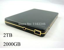 Ingrosso 2000 GB disco rigido mobile nuovo alto- velocità disco rigido mobile 2TB HDD usb2.0 hard disk esterno spedizione gratuita in tutto il mondo(China (Mainland))