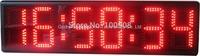 "8""red led display desk clock 7- segment red remote 4 digit countdown timer led"