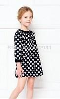 Brand design three quarter girls blouses polka dot cotton shirts for girl fashion baby blouse children princess shirts 2-9year