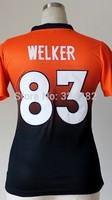 2014-15 Stitched - 83 Wes Welker Women's Drift Fashion Blue/Orange Elite Football Jerseys size: S-XXL
